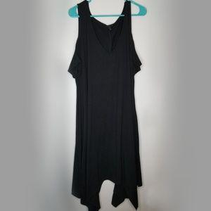 TORRID cold shoulder V-neck midi dress